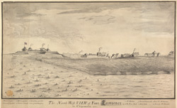 The North West View of Fort Lawrence in Chignectou